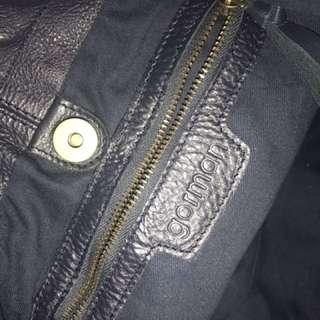 Gorman Dark Navy Leather Bag