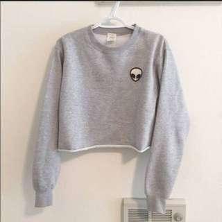 Tumblr Alien Crop Sweater