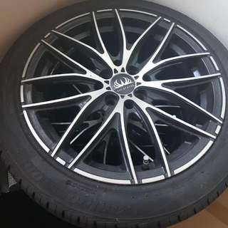 """OPC Rims And Tyres 16"""". No Curb Rash. Used For A Few Months Only. On OPC car. NEGOTIABLE. Cash And Carry. No Need Swap."""