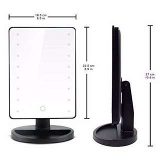 16 LED Touch Screen Adjustable Tabletop LED Lighted Mirror