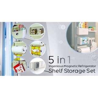 5 in 1 Magnetic Refrigerator Shelf Storage Set