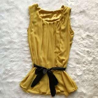 Yellow Chiffon Top