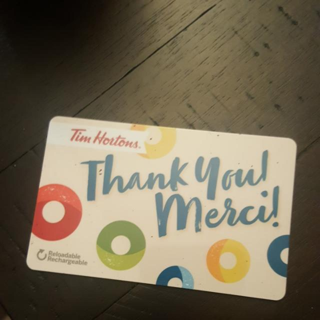 $200 Tim Horton Gift Card