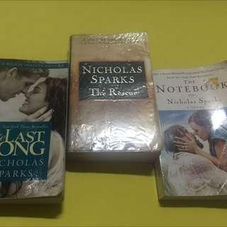 Repriced!!!Nicholas Sparks Books