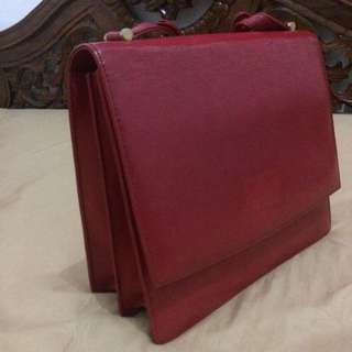 Aigner Bag Red Maroon