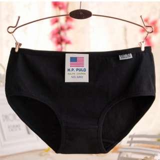 🚚 全新 低腰棉質女內褲 (黑,白,灰)