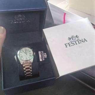 Festina Women Quartz Analog Date Stainless Steel Watch