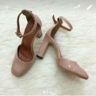 Reprice Cat Walk Dusty Pink Nude High Heels