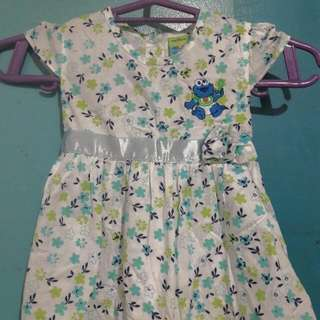 Floral Dress.. By SESame Street For 12mos Old Baby Girl NO DAMAGE USED ONCE.