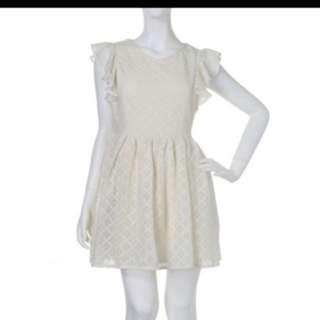 Dazzlin 荷葉露背洋裝