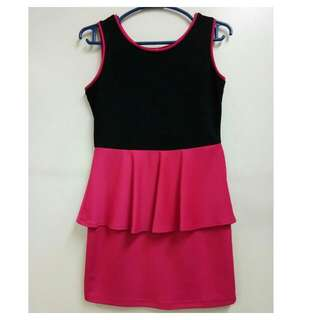 L'Amour Pink and Black Dress