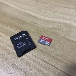 Sandisk sd card with micro sd card 8GB $35