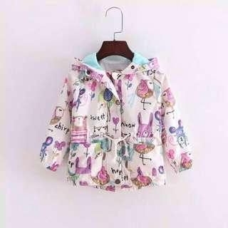 Girl Raincoat Size 1-4Y