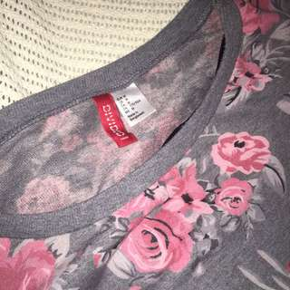 H&M/Divided Floral Oversized/Loose Sweater