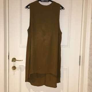 Topshop Asymmetrical Sleeveless Top With Side Slit