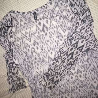 H&M/ Divided Outer Cardigan with Pattern
