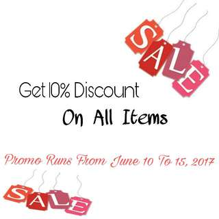 Get 10% Discount All Items