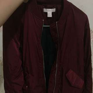 H&M Maroon Boomber Jacket