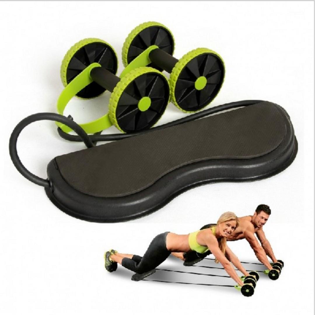 多功能健腹輪雙輪健腹拉力器拉力繩瘦腰健身器材