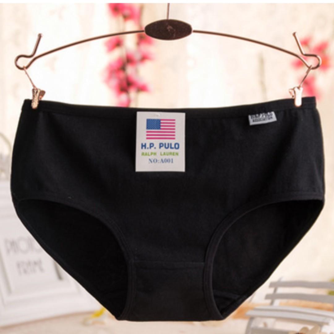 全新 低腰棉質女內褲 (黑,白,灰)