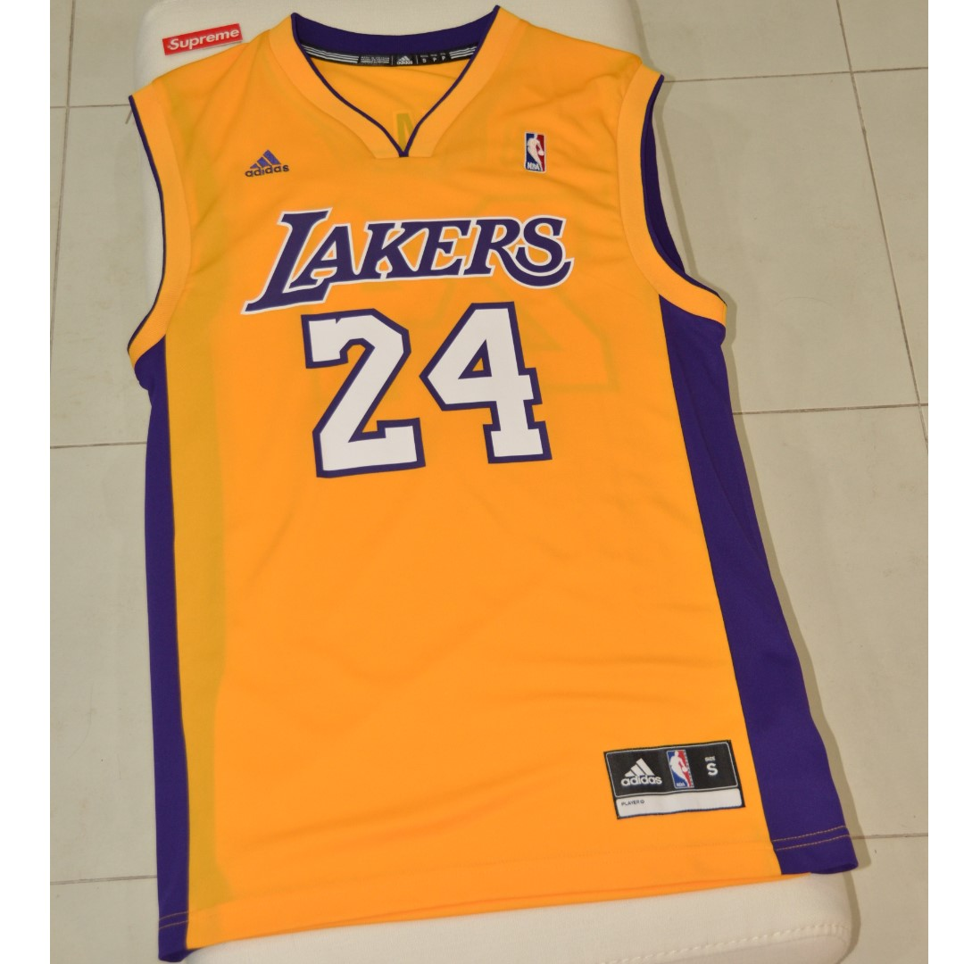 promo code f57ea 4cae5 Adidas authentic LAKERS jersey KOBE BRYANT