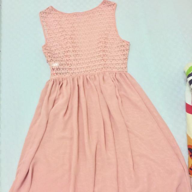 American Apparel Chiffon Lace Dress