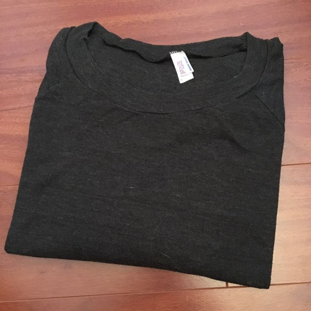 American Apparel Dark Grey Dance Shirt