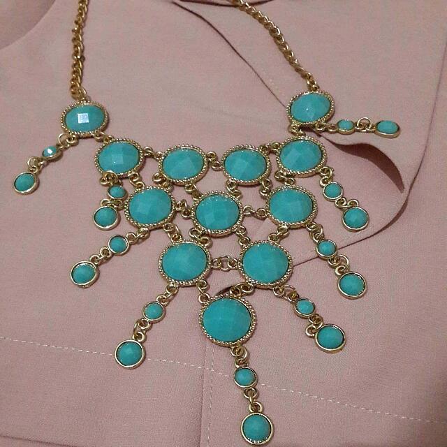 Aqua Bubble Necklace