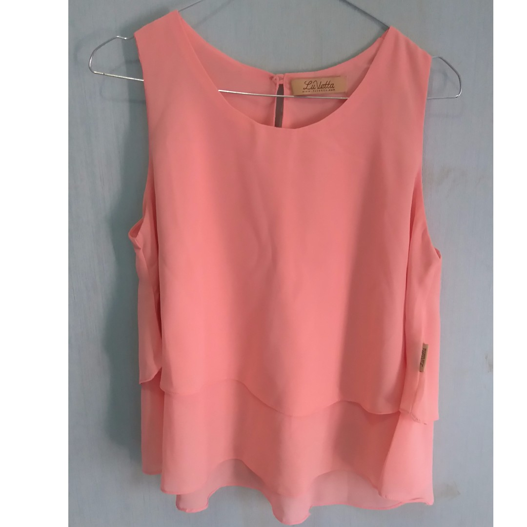 Atasan Peach ( Double Layered Top )