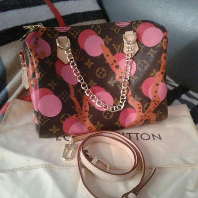 Auth LV speedy 25 Ramage Bandoulliere