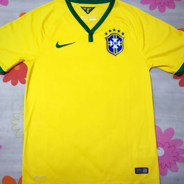 dc8442e75 Authentic Brazil FIFA World Cup 2014 Home Jersey