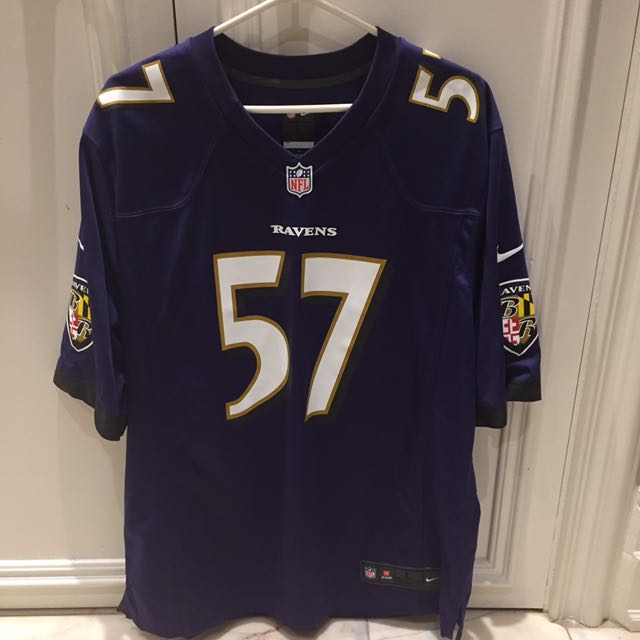 Authentic Ravens Jersey 57 Mosley
