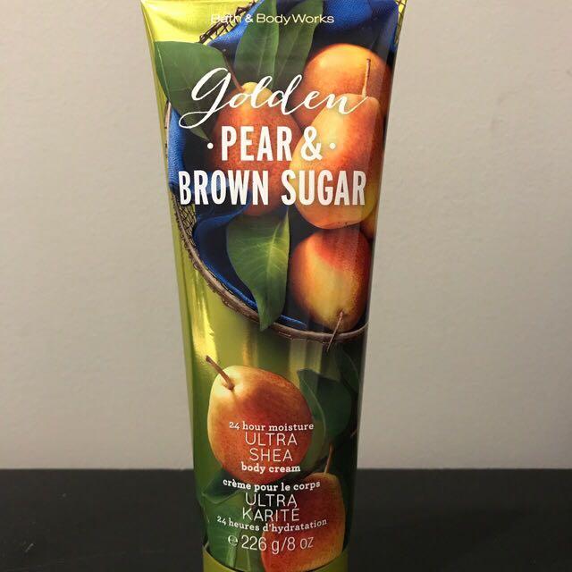 Bath and Body Works Golden Pear & Brown Sugar Body Cream 8oz