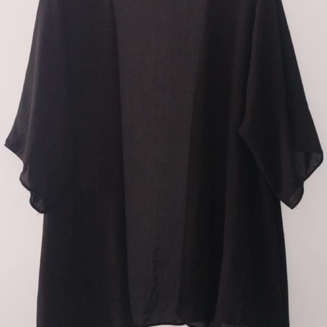 Black Kimono-style Cardigan