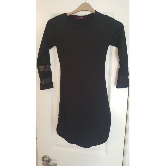 Black T With Mesh Arms