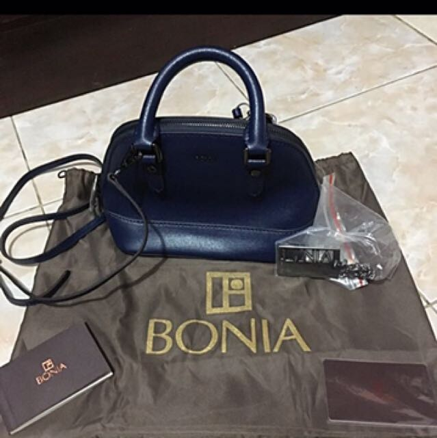 BONIA MINI SATCHEL SLING BAG AUTHENTIC ORIGINAL LEATHER