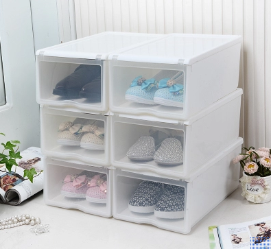 Dust Thickened Combination Shoe Boxes, Clear Shoe Box Storage Ikea