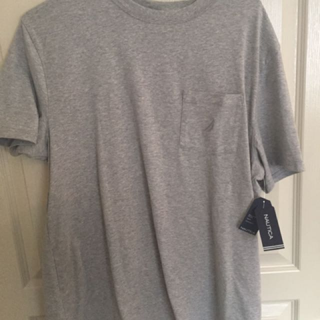 New Nautica Pocket Tee M