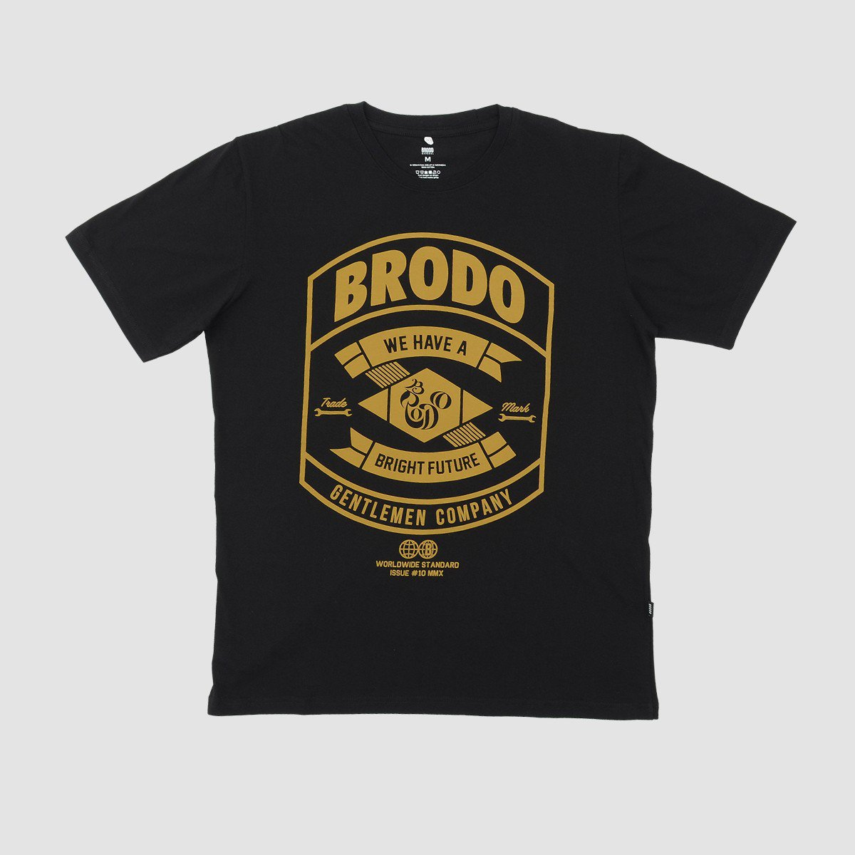 BRODO - Pakaian Pria Bronze Black T-Shirt