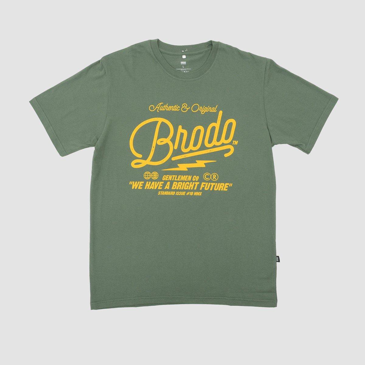 BRODO - Pakaian Pria Inscription Green T-Shirt