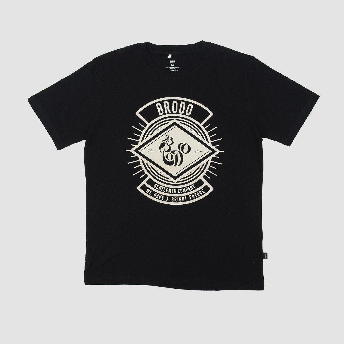 BRODO - Pakaian Pria Lantern Black T-Shirt