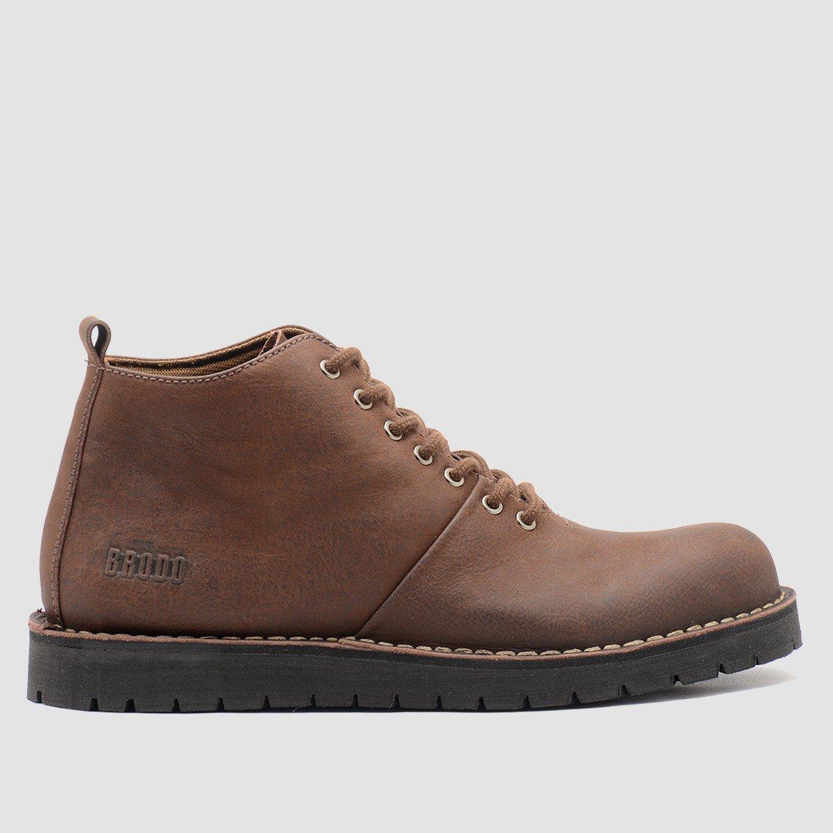BRODO - Sepatu Pria Signore Boots Fresato Dark Choco Black Sole ... 83d6e47c53
