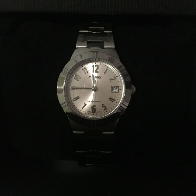 Casio Watch With Light Pink Face