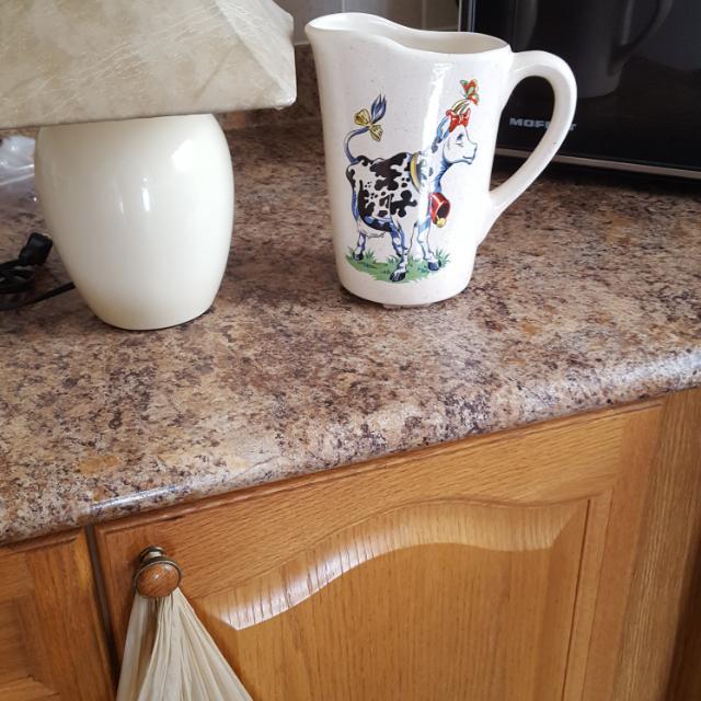 Ceramic Milk Holder Or Small Beige Lamp