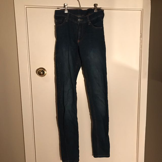 CHEAP MONDAY Tight Fantastic Dark Jeans- High Waisted