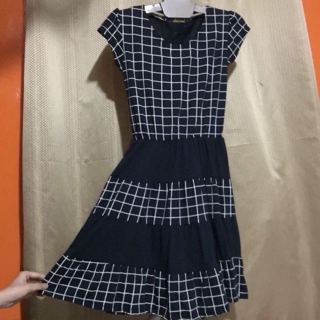 Checkered Flared Dress