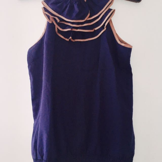 Chic Royal Blue Blouse