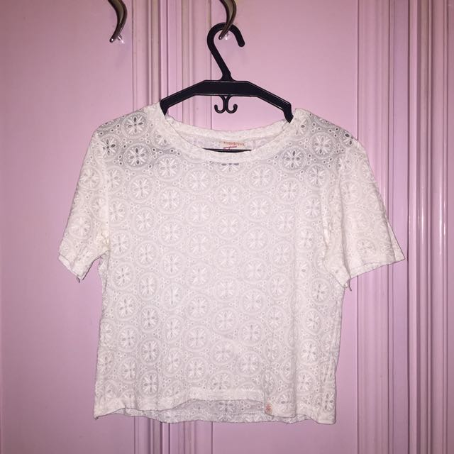 Cinderella Teens White Cropped Top