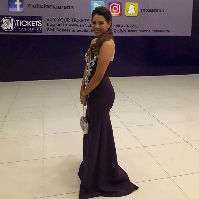 Classic yet Elegant Purple Sexy Gown