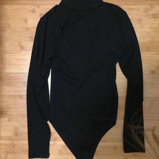 Cotton On Choker Ribbed Bodysuit Size S